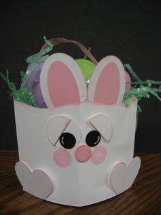 Stampin' Up!  Pillow Box  Denise Raymond  Easter Bunny Basket