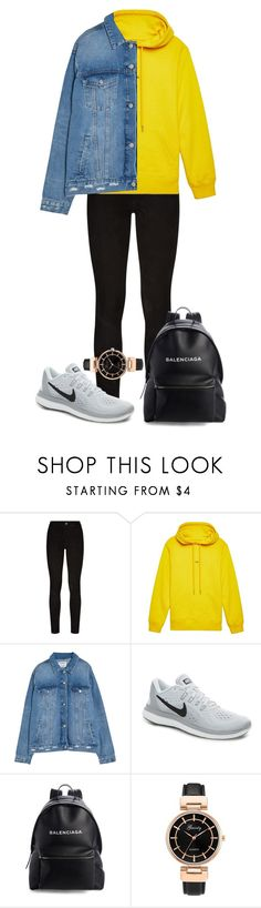 """""""Untitled #805"""" by ayalikeschicken ❤ liked on Polyvore featuring Paige Denim, Helmut Lang, NIKE and Balenciaga"""