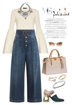 """""""Denim is a way of life [I]"""" by mbarbosa ❤ liked on Polyvore featuring The Row, RED Valentino, Gucci, Miu Miu, Marni, DANNIJO, J.Crew, Diane Kordas, Roberto Coin and MarniSandals"""