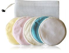 Organic Bamboo Nursing Pads  10pack 5 colors  Laundry Bag  Breastfeeding Reusable Hypoallergenic Washable Waterproof super soft by TK Babies *** Details can be found by clicking on the image-affiliate link. #BreastfeedingKits