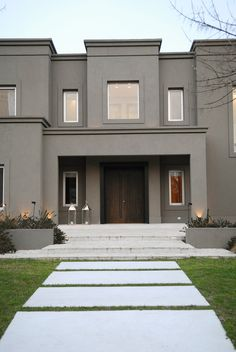 ideas exterior house architecture facades for 2019 Design Exterior, House Paint Exterior, Dream House Exterior, Exterior House Colors, Villa Design, House Front Design, Modern House Design, Style At Home, Future House