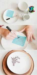 How to Decorate Dinnerware With Sharpie! DIY with the Sweetest Occasion