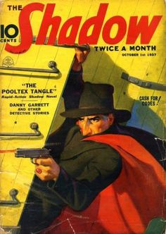 The Shadow Pulp Fiction Magazine Cover