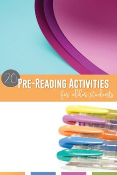 Prereading activities for older students can improve your classroom discusttions. Pre reading activities for middle school & pre reading activities for high school encourage literary analysis… More