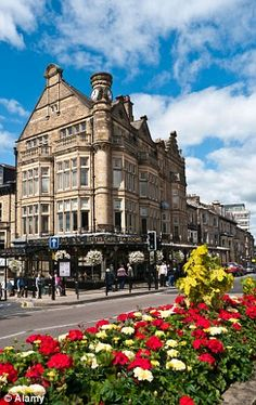 Happiest place to live:Harrogate in Yorkshire, with its tea rooms and Turkish baths came top of the list in a survey