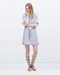 Ropa que adelgaza: vestido camisero Zara