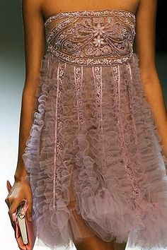 Valentino    Such texture, beading, and elegance as I have come to expect from Valentino. Aurora