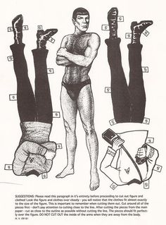 Living in a Retro World • retrogasm: Spock Paper Doll
