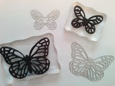 Butterfly Thinlits Dies Homemade Butterfly stamps from foam and thinlit dies.