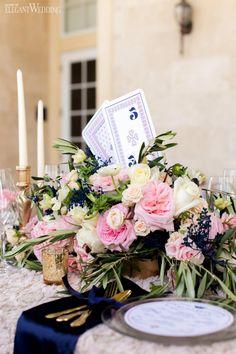Card themed wedding decor | ROYAL BLUSH WEDDING INSPIRATION | Elegant Wedding