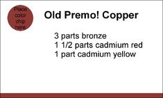 old copper recipe for premo. #polymer #clay #tutorial