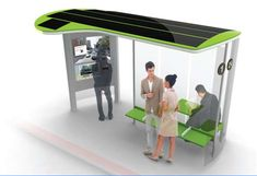 paris bus stop | Smart user-friendly bus stops make you forget you are waiting!