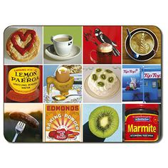 New Zealand New Zealand Food Icon Placemats - Set of 6