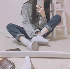 Save = follow #not_save_free #Lam Kpop Fashion Outfits, Ulzzang Fashion, Korean Outfits, Ulzzang Girl, Boy Outfits, Korean Fashion, Grunge Style, Soft Grunge, Cute Girl Face