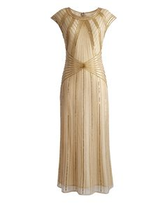 Pin for Later: Perfect Flapper Dresses to Suit All Body Shapes Joanna Hope Beaded Maxi Dress 1920s Evening Dress, Beaded Evening Gowns, Women's Evening Dresses, 1920s Dress, Beaded Gown, Brown Maxi Dresses, Maxi Gowns, Formal Dresses, Halter Dresses