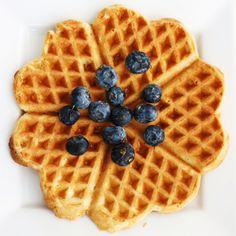 Wholegrain waffle, maple syrup, blueberry