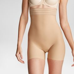 e3fa3941018 Assets by Spanx Women s Shaping Micro High-Waist Girl Short - Barely 1X  Assets By