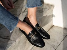 8 Perfect Shoes That Never Go Out Of Style - Gucci Brixton Loafer - Ideas of Gucci Brixton Loafer - You can never have enough shoes Gucci Brixton Loafer, Gucci Loafers, Gucci Shoes, Leather Loafers, Fashion Me Now, Look Fashion, Street Fashion, Fashion Shoes, Gucci Fashion