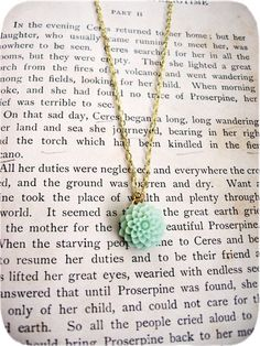 The Cordelia Delicate Creamy Green Necklace by sodalex on Etsy