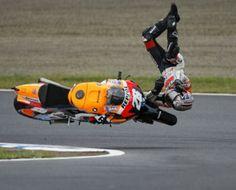 Dani Pedrosa NOT riding his repsol honda motogp bike