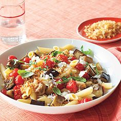 Perfect for a Meatless Monday, hearty Penne with Roasted Eggplant and Mozzarella is sure to satisfy all members of your family.