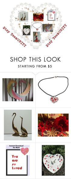 """Hearts of Etsy TeamUNITY"" by galina-780 ❤ liked on Polyvore featuring vintage"