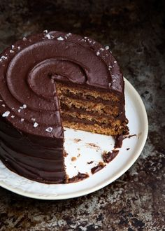 Pear Chocolate Hazelnut Gianduja Cake - Style Sweet CA