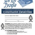 U.S. Constitution Detectives Activity: Common Core Aligned. Students become detectives and research the US Constitution! $