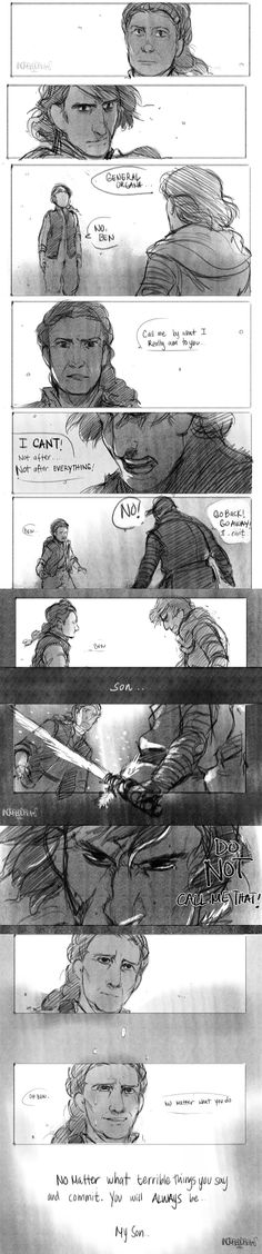 """"""" Always.."""" I like the idea of Leia confronting Ren all composed till the moment where she calls him son. Then it breaks both of them. Sorry dont mind me, I have to many feels at the moment. Sorry :'V"""