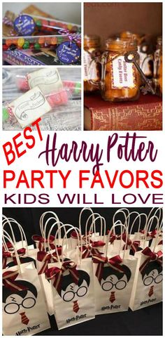 Hey Harry Potter fans – I have the BEST Harry Pottery party favor ideas for your next Harry Potter theme party! Find so many cool ideas Harry Potter Treats, Harry Potter Candy, Harry Potter Food, Harry Potter Birthday, Harry Potter Party Decorations, Anniversaire Harry Potter, Party Themes, Ideas Party, Kid Party Favors