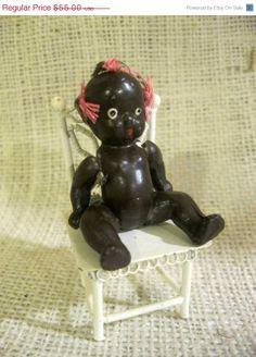 Vintage Black Americana Bisque Doll by Sisters2Vintage