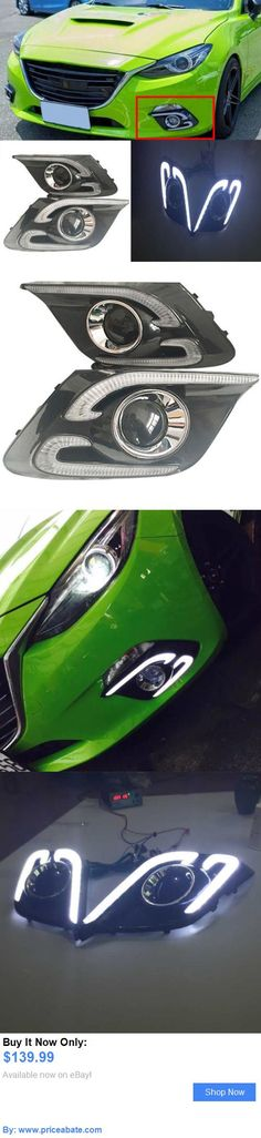 Motors Parts And Accessories: 2Pcs White Led Daytime Running Light Driving Fog Lamp Drl For Mazda 3 2014-2016 BUY IT NOW ONLY: $139.99 #priceabateMotorsPartsAndAccessories OR #priceabate