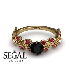 Flower Engagement Ring by Segal Jewelry