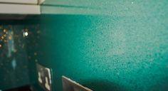 Aqua Green Splashback Crystalline Collection by CreoGlass Design (London,UK) #kitchen #modernkitchen