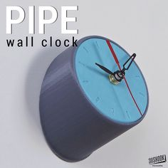 "A simple and fun pipe wall clock - a perfect ""Made in Home"" print!Our clocks fit standard quartz clock movement mechanism. Check us out at www.3dshook.com #3dprint #3dmodels #3dprinted #3dprinter #3dprinters #3dprinting #makers #makersgonnamake #PrintEverything #tech #technology #3dshook #clock #interiors #homedecor #quartz #gadget #timepiece by 3dshook"