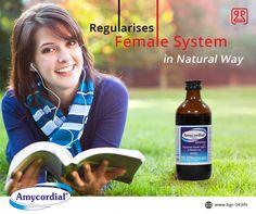 "#Amycordial : Regularises Female System in #Nature's Way"" #WomenHealth #NaturalFertilitryTreatment #AyurvedicMedicine #AimilPharma"