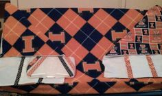 Illini burpie, diaper pad changing cover and wipe case for Colin.  See at letsgobabygear.com