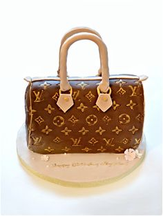 Louis Vuitton LV Speedy Handbag Chocolate Cake Cherie Kelly London