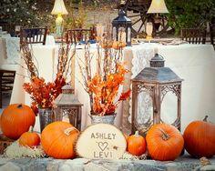 décoration de mariage et extérieur d'automne