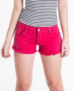 BadCat - Shorts Cereja