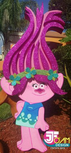 Trolls Birthday Party, Troll Party, 3rd Birthday Parties, 4th Birthday, Bolo Trolls, Bday Girl, Birthday Decorations, Bunt, Balloons