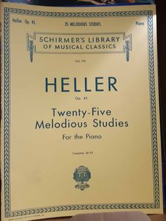 The classic Schirmer's Library of Musical Classics. This paperpack contains the sheet music for 25 pieces of Heller. This and other piano (and some guitar) books available at the website. #sheetmusic #music #vintage #Forsale #classical #easylistening #gift #piano #itemsforsale