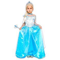 Kék hercegnő jelmez - 130-140 cm