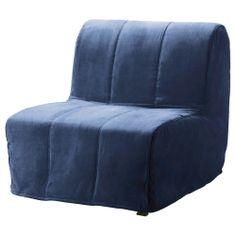 LYCKSELE MURBO Chair bed - Henån blue - IKEA