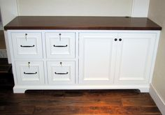 Laguna beach custom flush inset cabinets: office and closet