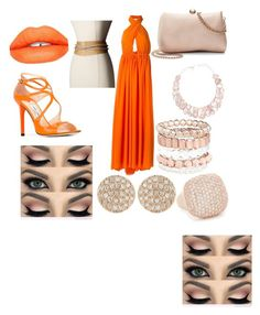"""formal look"" by savannasantacruz ❤ liked on Polyvore featuring MSGM, Jimmy Choo, LC Lauren Conrad, Poppy Jewellery, Avenue, Bronzallure, Sugarpill, ADA Collection and Dana Rebecca Designs"