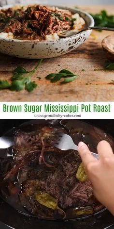 Prepared in a flash, this tender, flavorful, savory yet sweet Crock Pot Mississippi Pot Roast Recipe that melts in your mouth is calling your name! Crockpot Dishes, Crock Pot Slow Cooker, Crock Pot Cooking, Beef Dishes, Food Dishes, Slow Cooker Recipes, Roast In Crockpot, Oven Cooking, Pressure Cooking