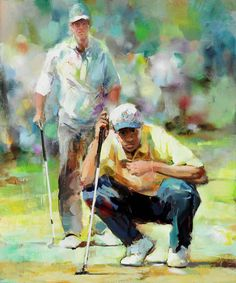 Painted canvas Tiger Woods version1