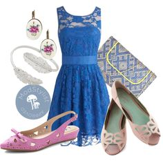 """When the Night Comes Dress in Blue"" by modcloth on Polyvore"