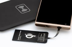 Universal Qi Wireless Transmitter Charging Pad + Universal Wireless Charger Receiver For Micro-USB Smartphone